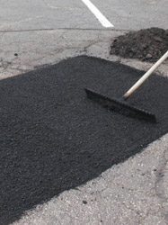 Picture of repaired asphalt